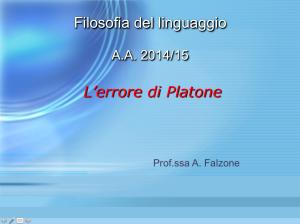 Filosofia del Linguaggio Triennale 2014-15